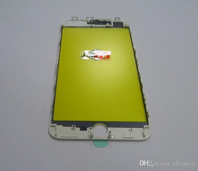 Original 2 in 1 For iPhone 8 Plus Glass with Bezel Frame Cold Press Cracked LCD Repair Fix Jiutu