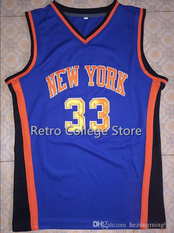 a4c4e39f785 Men  33 Patrick Ewing New York Basketball Jersey Embroidery Stitched  Customize Any Size Number And Player Name Online with  48.51 Piece on  Hezongming99 s ...