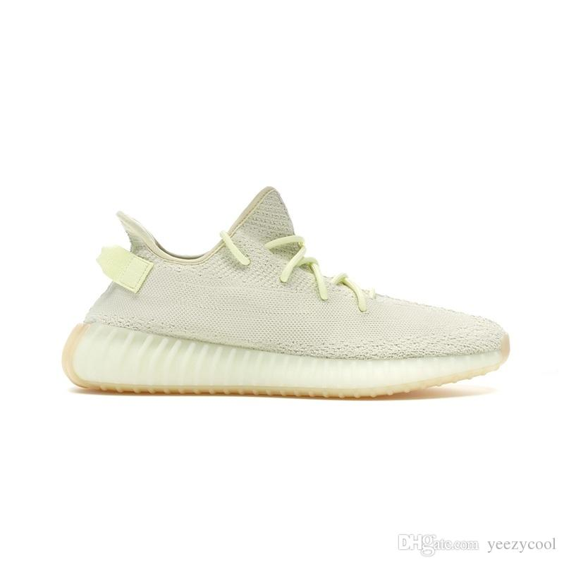 f2e925415 2019 New 350 V2 Butter Sesame Beluga 2.0 Bred Cream White Copper Zebra Men  Women Sports Sneakers Kanye West Running Shoes With Box From Yeezycool