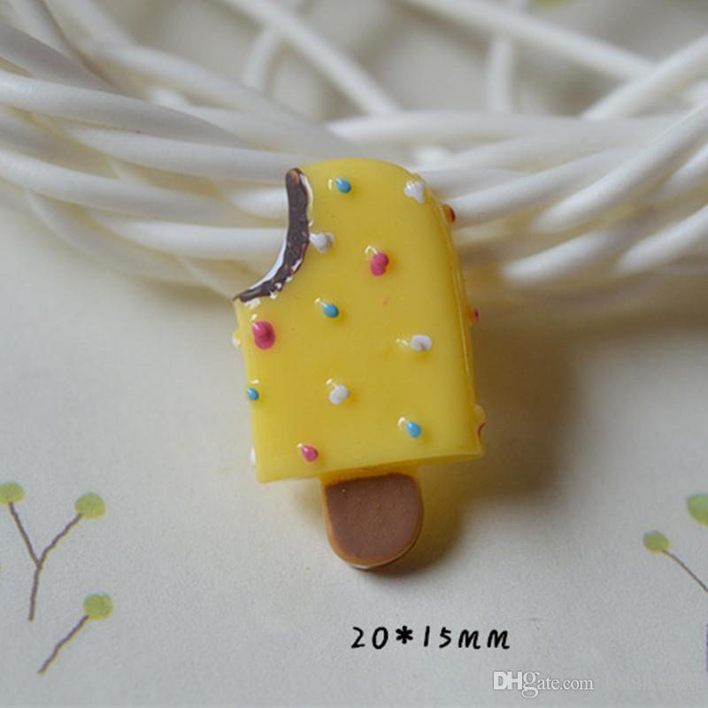 Kawaii Resin Ice Cream flatback resin cabochon for decoration hair bow ornaments diy Scrapbook Embellishment