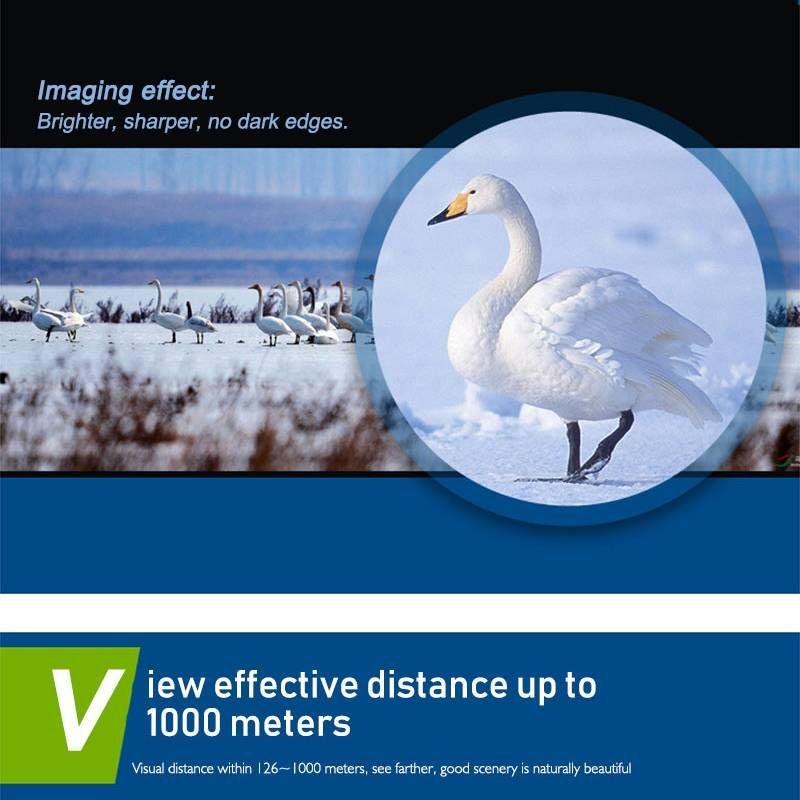 Vision nocturne pliante 30x60 Zoom Optique militaire Jumelles Télescope 126m-1000m telescopio jour et nuit de haute qualité