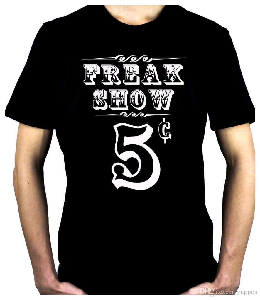 Free Shipping 2018 Freak Show Poster Men's T-Shirt Circus Carnivale Side  Show Alternative Clothing High Quality Casual Clothing