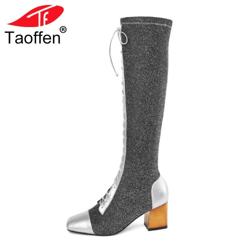 Großhandel Taoffen Frauen Winter Stiefel Aus Echtem Leder Winter Frauen Gladiator 9a8316