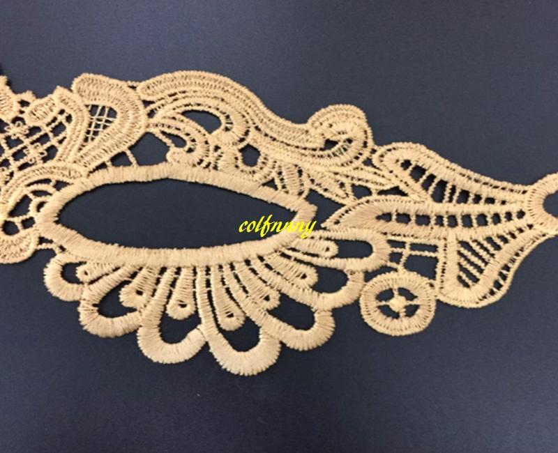 Black & Gold Sexy Lady Lace Mask Cutout Eye Mask For Masquerade Party Fancy Dress Costume ,Halloween Party Fancy
