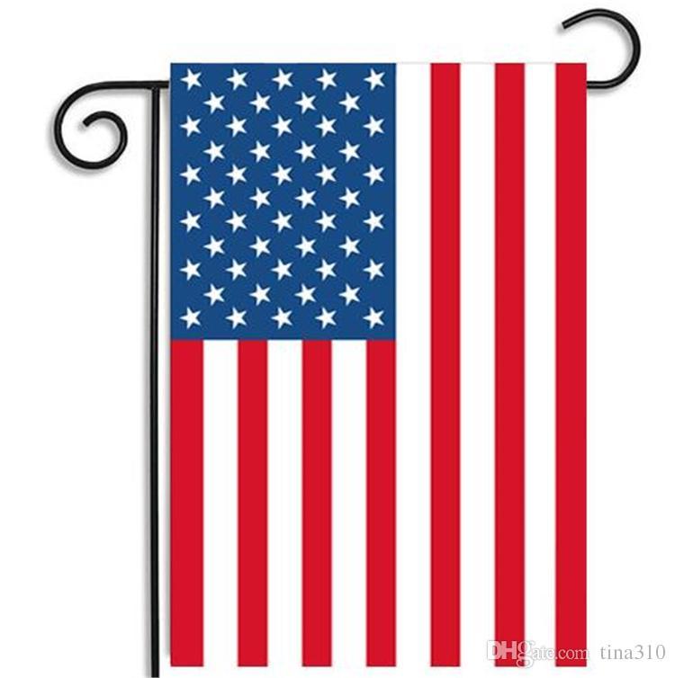 35 * 45cm USA drapeau de jardin polyester décorations pour la maison drapeau rouge blanc drapeau bleu de polyester rayures des États-Unis étoiles bannière drapeaux
