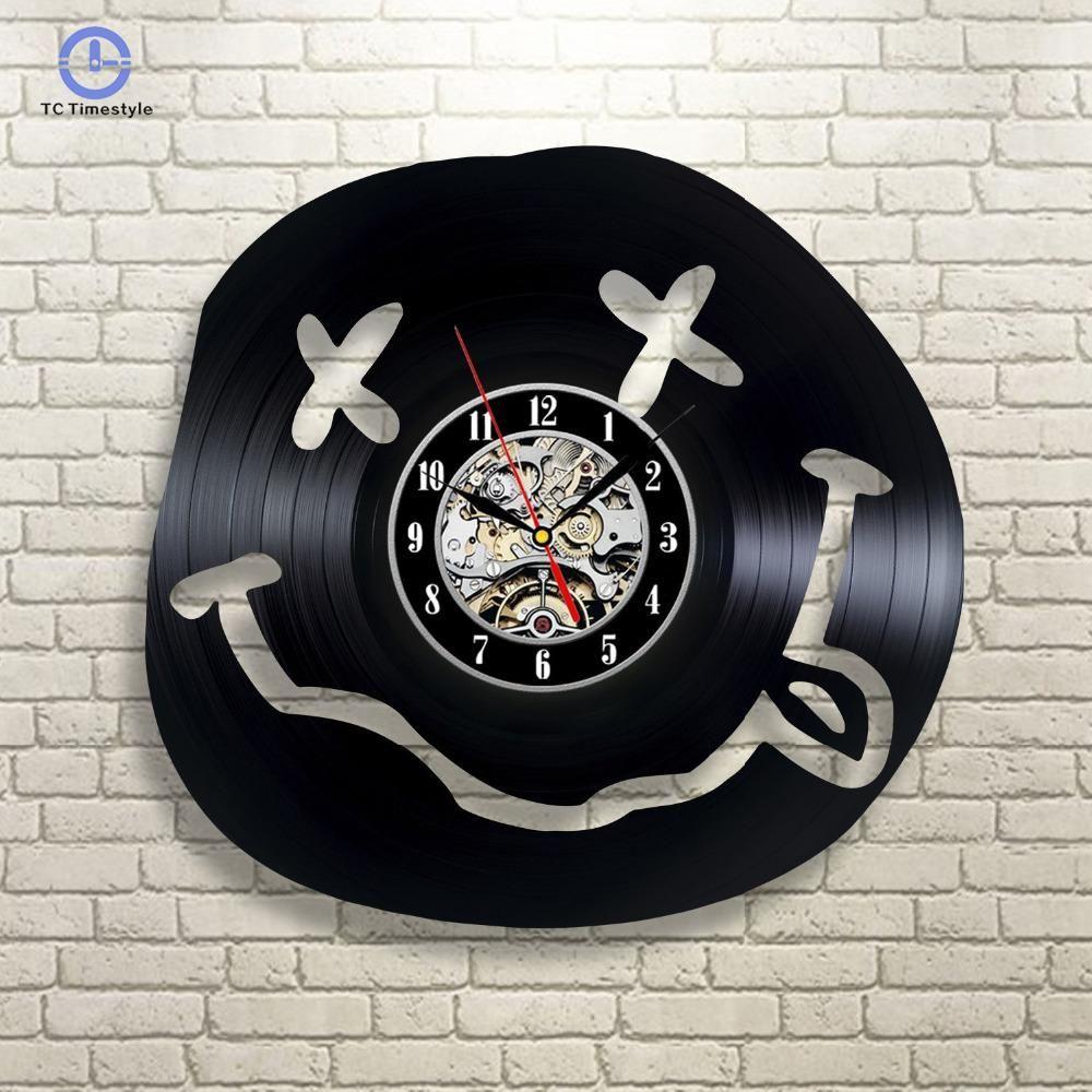 Pared Vinilo Registro Nueva Arte Llegada Sala Colgantes Vendimia Relojes Reloj De Casero Decoración La Moderno SzVMpU