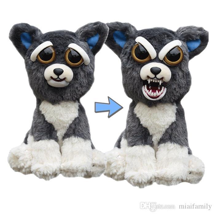 Face Change Feisty Pets Animals Plush toys cartoon monkey unicorn Stuffed Animals for baby