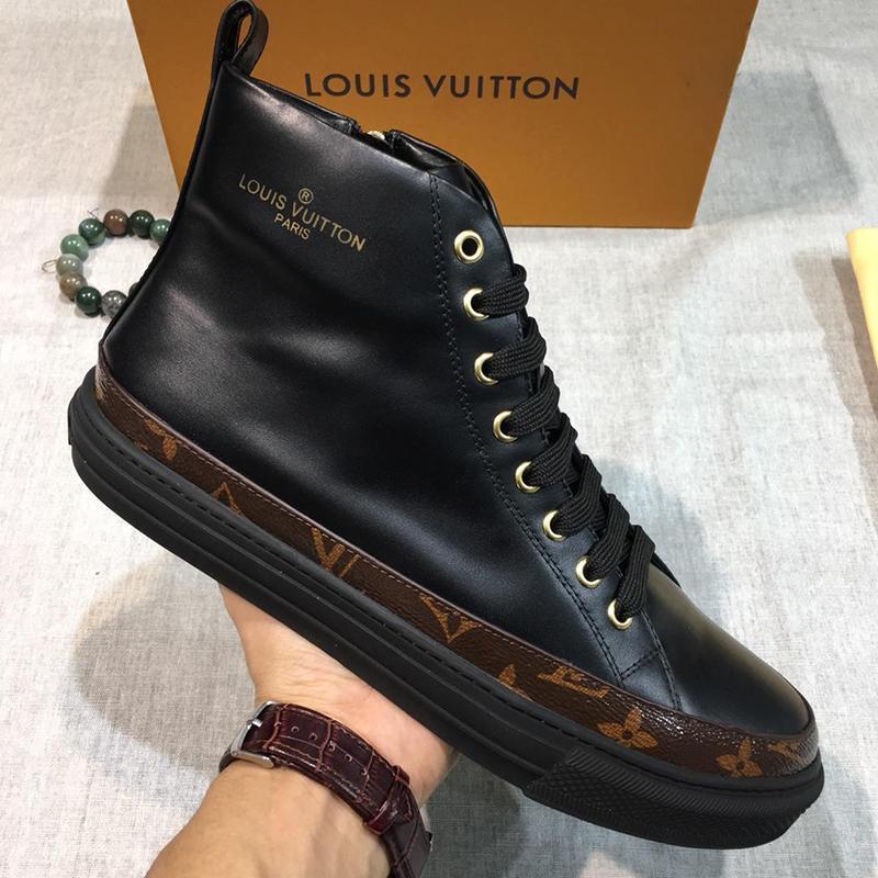 c09f7ce7dc816d High Top Sneakers Men Shoes L0UIS Brand Footwear With Origin Box France  Luxury Platform Mens Flats Chaussures De Sport Pour Hommes 1A3O95 Italian  Shoes Cute ...
