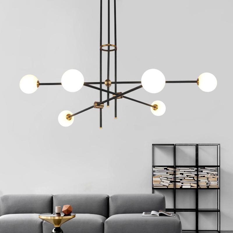 Moderne Lamparas Salon Accessoires Luminaire Suspension Plafonnier Lampe De Lumière Verre Manger Hanglamp Pour Led À Salle Boule 0ONwvnym8