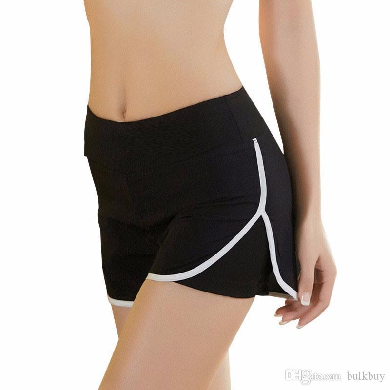 Лето Женщины Спортивные Брюки Шорты Тренажерный Зал Тренировки Пояс Тощий Йога Трусы Фитнес Свободные Шорты