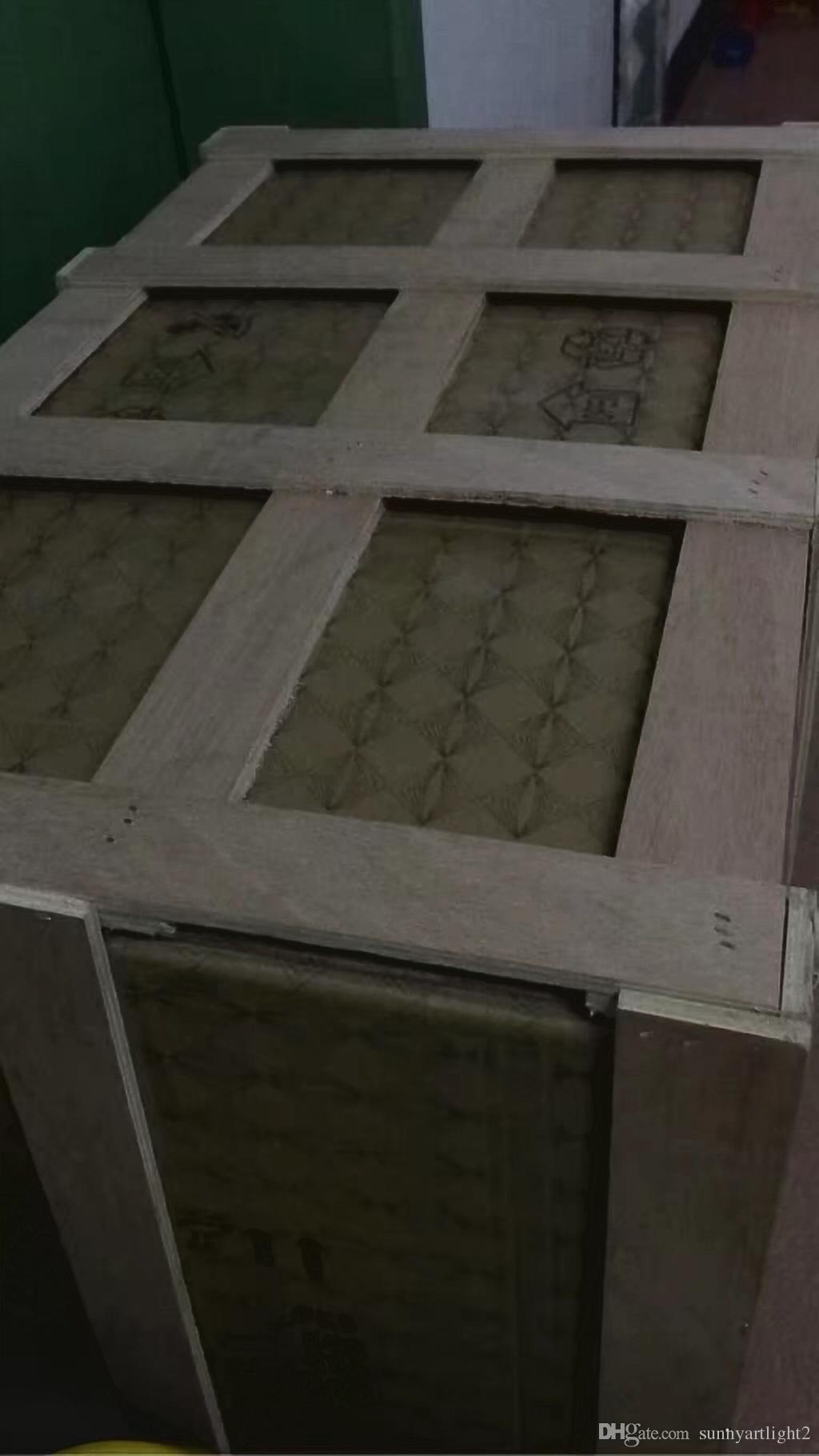 Atacado Hotel Decor vidro fundido Candelabro Grande e Art Cristal Modern Custom Made Murano Estilo Chandelier