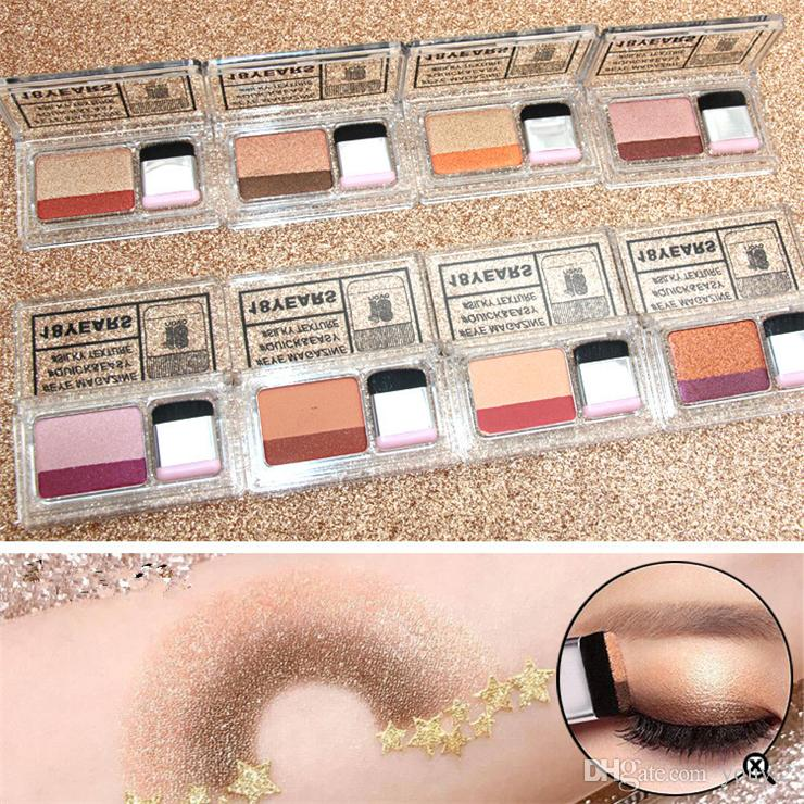 2018 hot NOVO double color gradient eyeshadow lazy 3 seconds makeup color eye shadow box DHL shipping support wholesale Eye Shadow