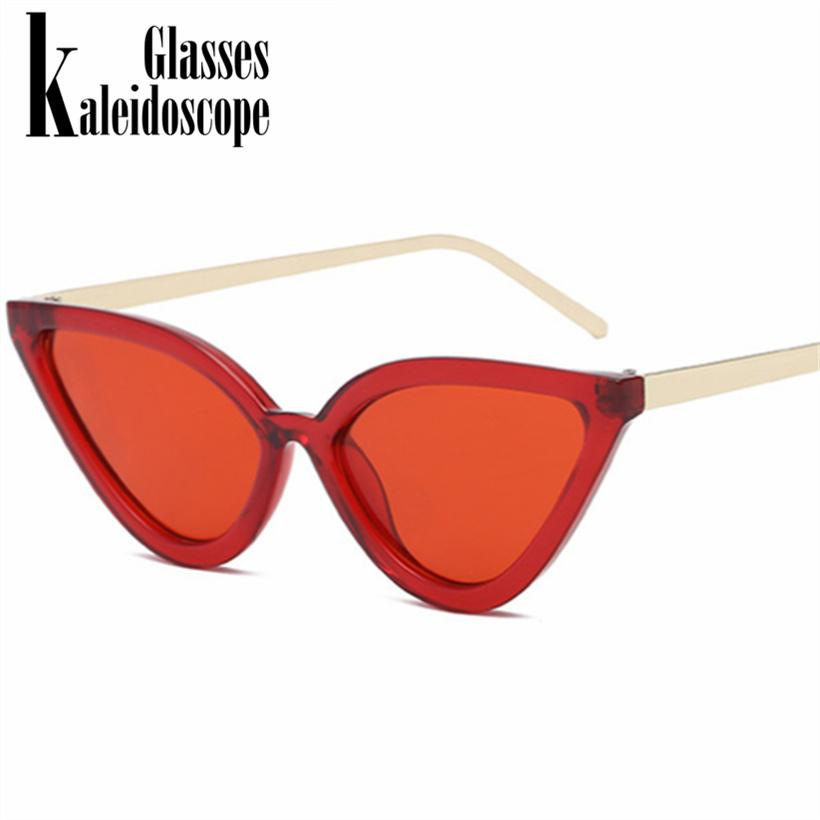 e31c5d636f Kaleidoscope Glasses Cat Eye Sunglasses For Women Fashion Design Triangle  Retro Metal Frame Cateye Sun Glasses Red Glasses Uv400 Sunglass Cheap  Sunglasses ...