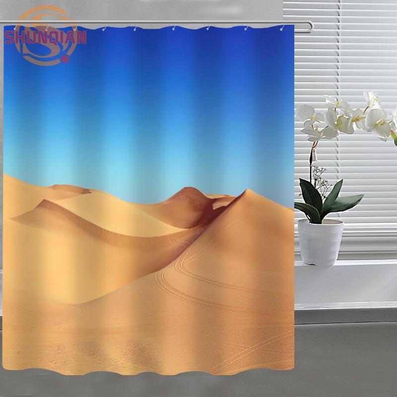 Charmant Desert Sand Dune Custom Shower Curtain Fabric Polyester Bathroom Curtain  Acceptable Custom Printed Shower Curtains Custom Shower Curtain Shower  Curtain ...