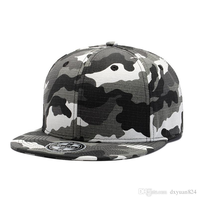 0135590db Camo Snapback Hip Hop Dad Hat 2018 New Designer Adjustable Men s ...