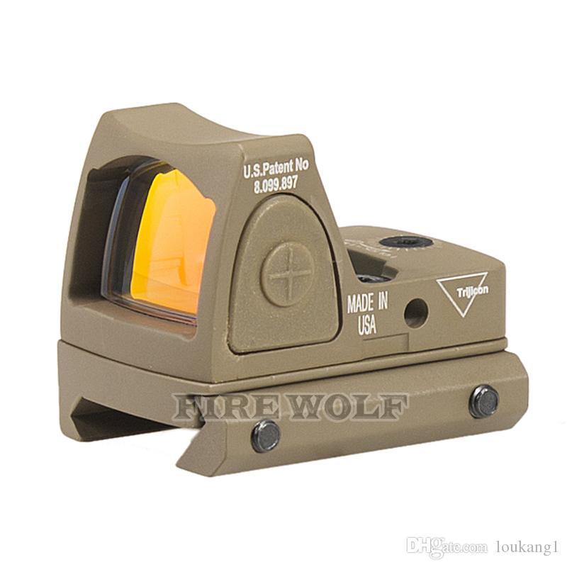 2018 Nuovo Trijicon RMR Regolabile in stile Red Dot Sight Scope con protezione in gomma la caccia
