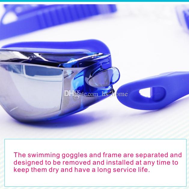 Summer high quality Swim goggles Integrated swimming goggles Waterproof and anti-fog Ear plug + nose clip Detachable frame