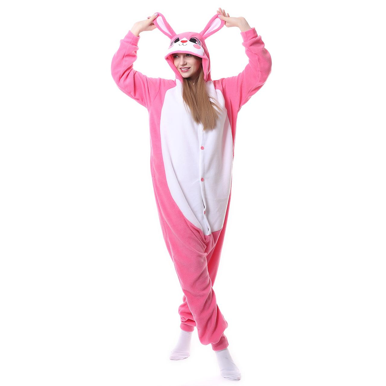 Stuffed Animal Onesie Pajamas For Women Men Pajama Christmas Pink Rabbit Pyjamas Fleece Cartoon Adult Cosplay Costume 2018 New Fashion Style Kids Halloween ...  sc 1 st  DHgate.com & Stuffed Animal Onesie Pajamas For Women Men Pajama Christmas Pink ...
