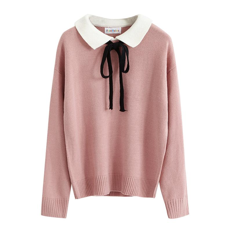 2019 Preppy Style Patchwork Outwear Ladies Women Sweaters And Pullovers  Knitwear Cute Loose Autumn Winter Harajuku Kawaii 2SWT1117 From Burtom 958df787d