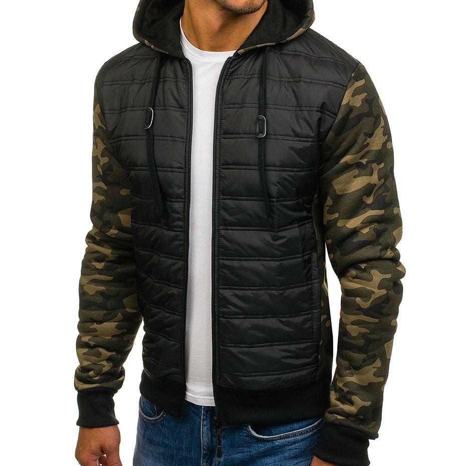 1d7e882a7 ZOGAA Plus Size Men Winter Casual Hooded Cotton Coat Thin Jacket Zipper  Slim Men Clothes 2018 Coats Parka Camouflage Outwear