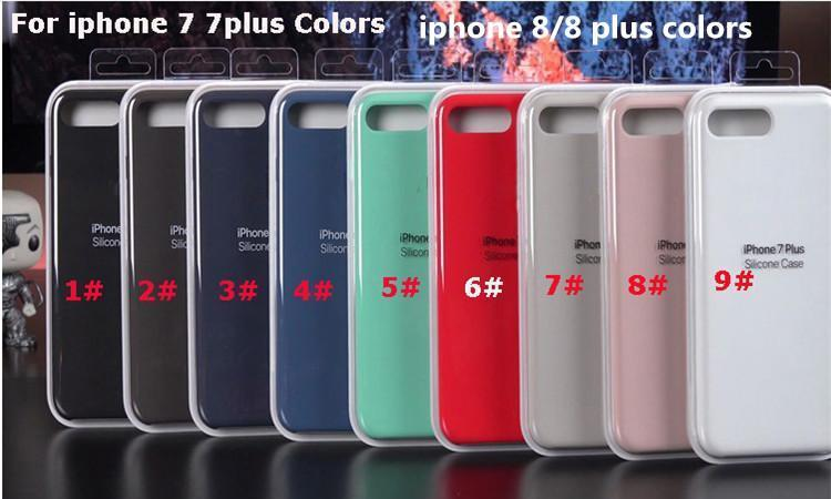 buy popular 9863c f8e45 Original iPhone x silicone case Liquid Silicon rubber Cases For iphone 8  for iPhone 8 Plus 4 6 7 plus with retail box