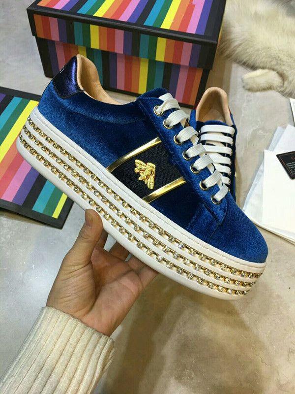 9bd5328e96 2018 New Designer Fashion Snake Print Love Luxurious Sneakers Low ...