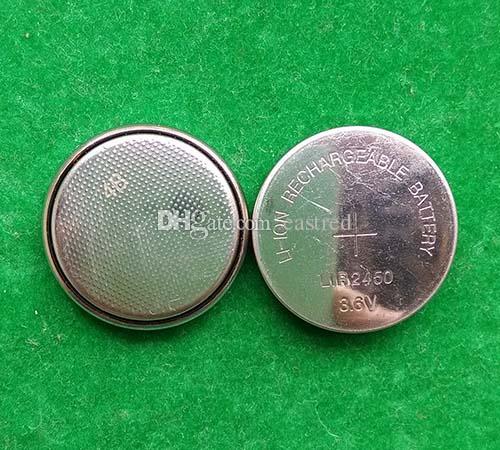 pro Los 3.6V LIR2450 aufladbare Knopfknopfzellenbatterie 120mAh, Zelle wiederaufladbare Lithium-Ionen-LIR 2450