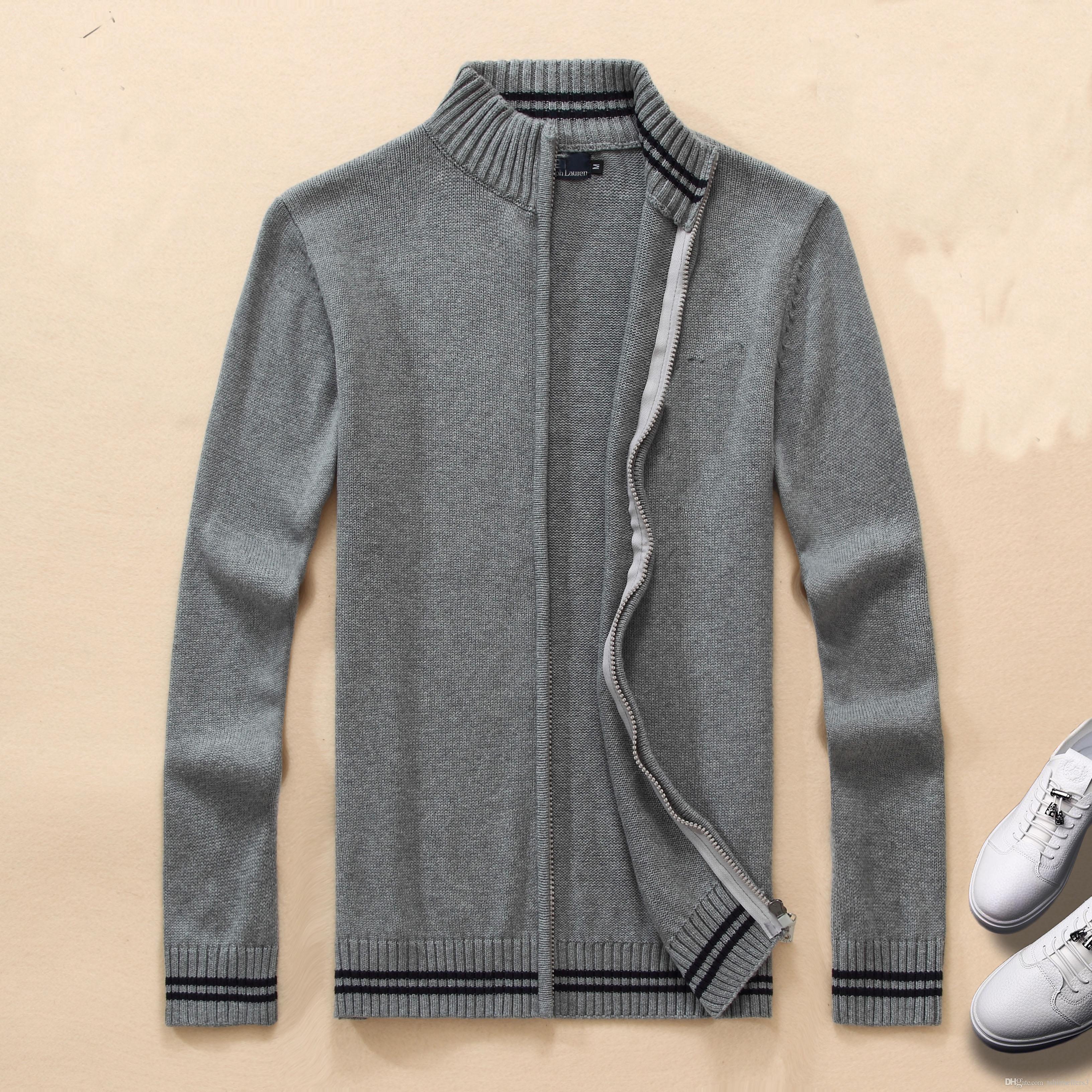 Pullover Der Männer 2018 Herbst Winter Warmer Reißverschluss Pullover  Strickjacken Mann Beiläufige Strickwaren Plus Größe M Xxl Von  Tshirtsellers3, ... d47f6a8973
