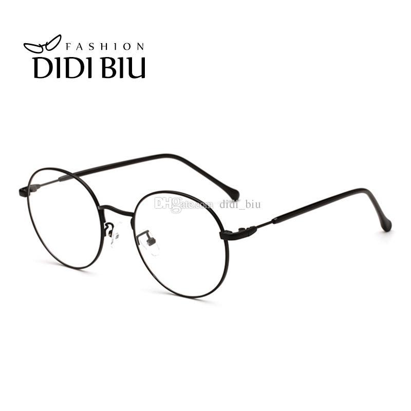90080f5d18c DIDI Luxury Eyewear Brands Round Optical Prescription Eyeglasses ...
