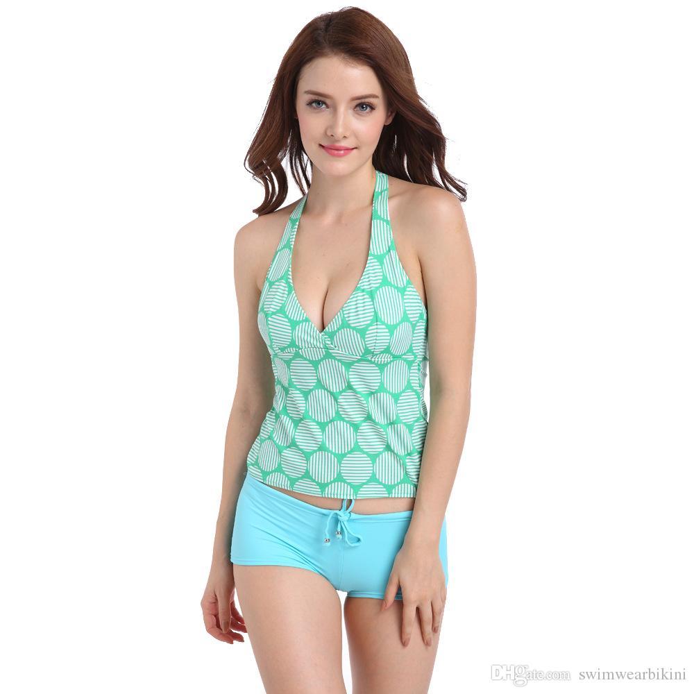Mode mini bikini un ensemble maillot de bain Hot Spring 2018 nouveau maillot de bain, mince, split, deux ensemble, maillot de bain uni, maillot de bain en nylon haute qualité.