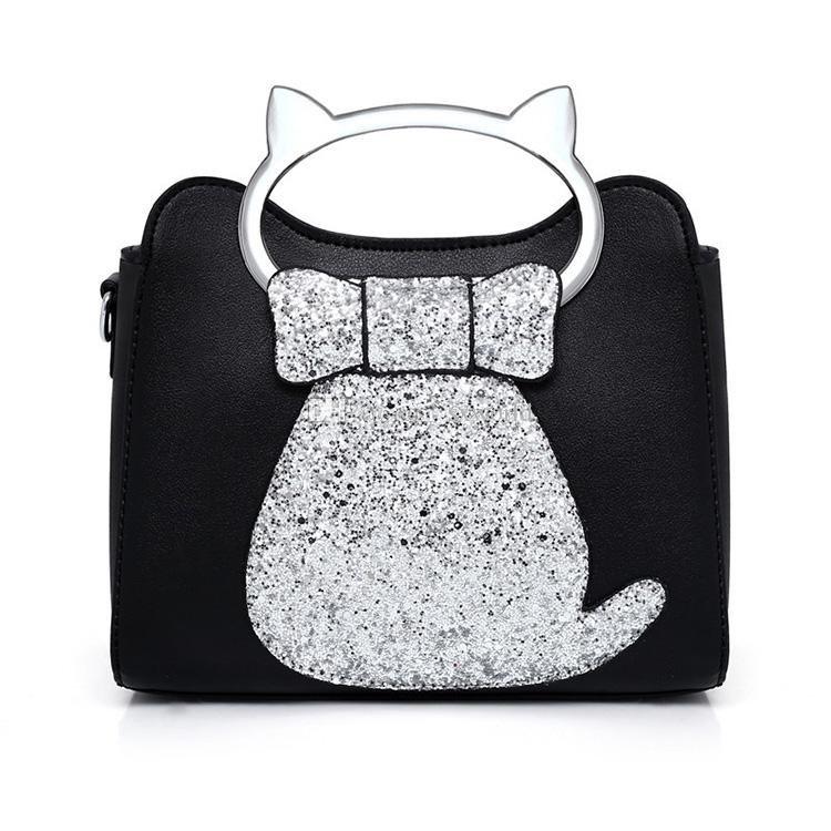 7a73483f0f77 Fashion Casual Sequins Cat Small Square Leather Women Single Shoulder Bag  Taobao Handbag Brands Cheap Bags From Sxworld