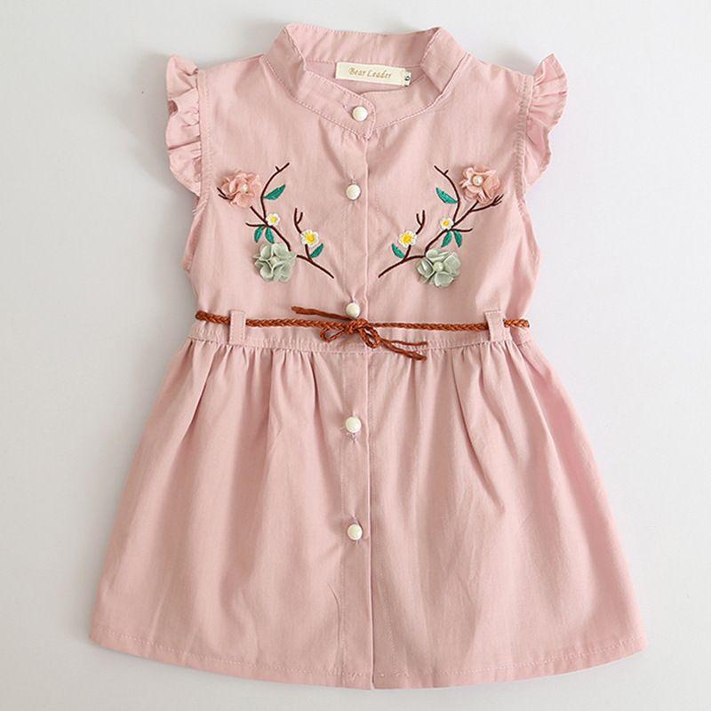 0f5b3e3f59257 Compre Vestidos Para Bebés Nuevo Verano Ropa Para Bebés Ropa De Flores  Bordado Princesa Vestidos Recién Nacidos Para 6M 24M Ropa De Niña A  7.04  Del ...
