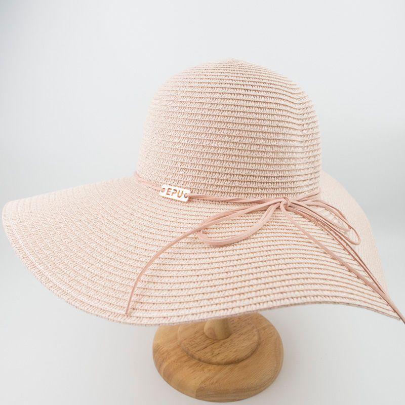 ddc705e82fc EPU-MH1868 New Female Ladies Paper Straw Floppy Hat Sun Summer Beach ...