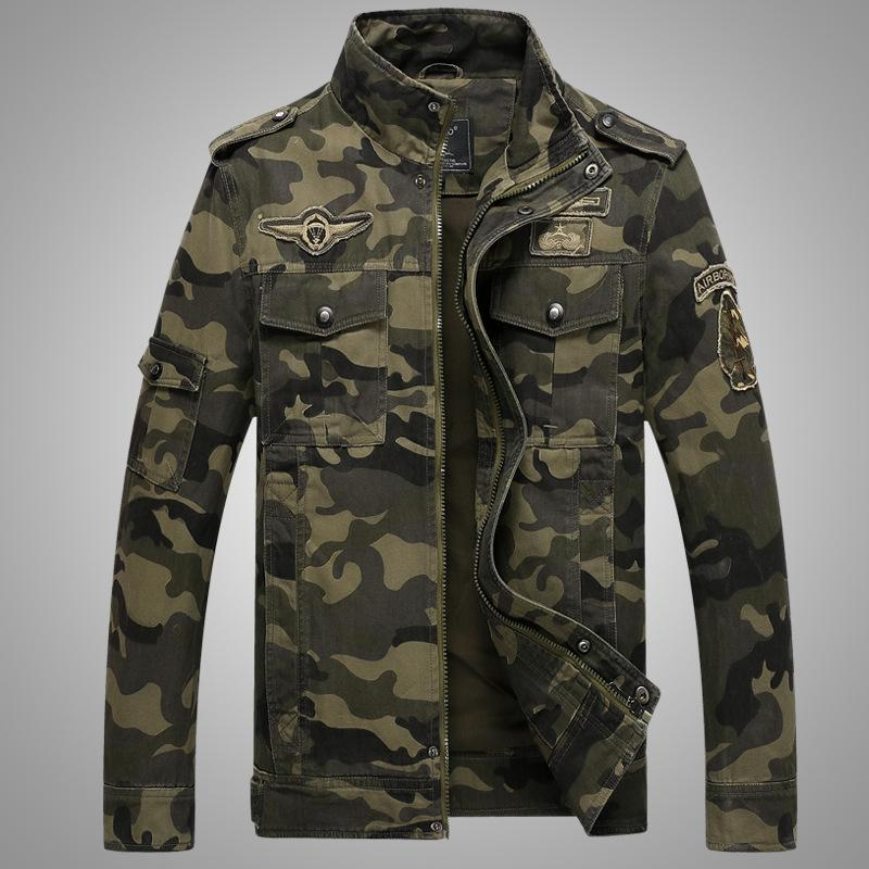 4ed8ace110225 Army Military Jacket Men Camouflage Tactical Camouflage Casual Fashon  Bomber Jackets New Hot Fashion Male Clothing Mens Jackets Sale Custom  Leather Jackets ...