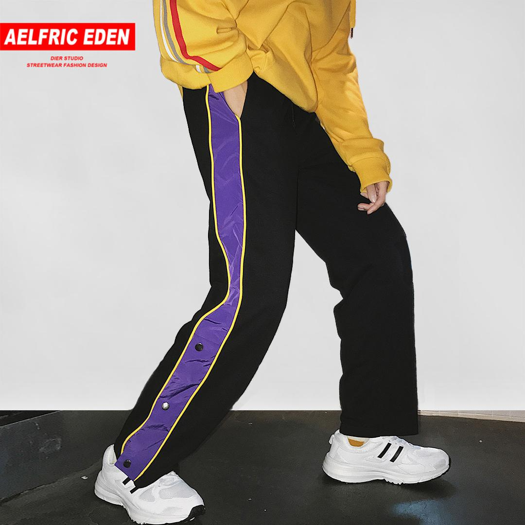 f48a3a7e6c4 Aelfric Eden New Design Button MensTrack Pants Casual Sweatpants 2018  Autumn Fashion Harajuku Joggers Hip Hop Streetwear MC13 Sweatpants Cheap  Sweatpants ...