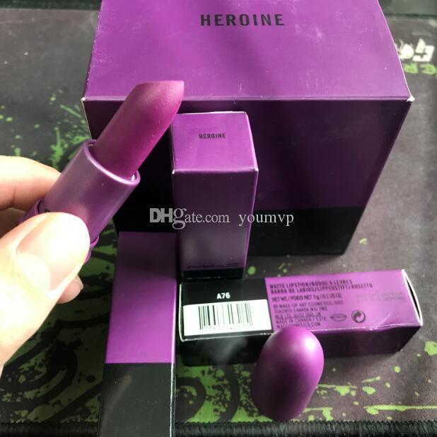 Makeup Lipstick CANDY YUM YUM/RUBY WOO/CREME D'NUDE/LADY DANGER/VELVET TEDDY/HEROINE 6 Shades J0047