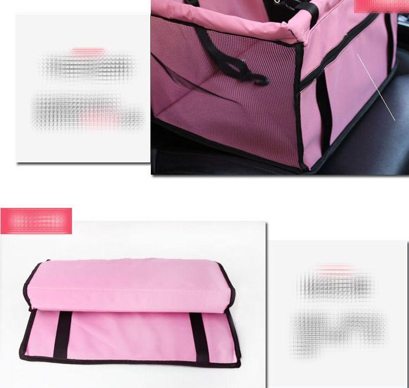 Disegno ordinario Pet Carrier Car Seat Pad Sicuro Carry House Cat Puppy Bag Impermeabile Car Travel Accessori Coperta Impermeabile Cestello cani B