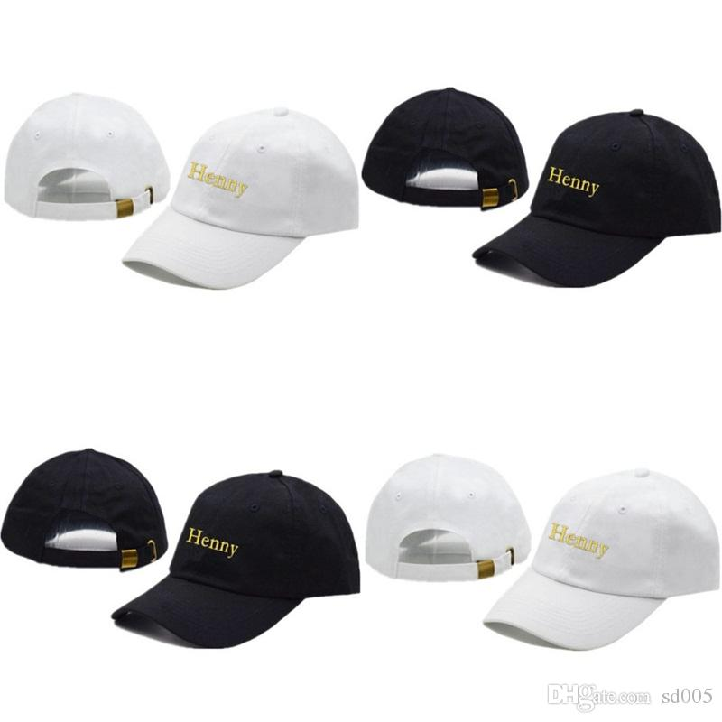 ac0c61891e0 Embroidery Baseball Cap Henny Men Women Caps Summer Retro Adjustable Buckle  Curved Bill Hip Hop Solid Color 16yz Hh Cool Caps Flat Brim Hats From Sd005