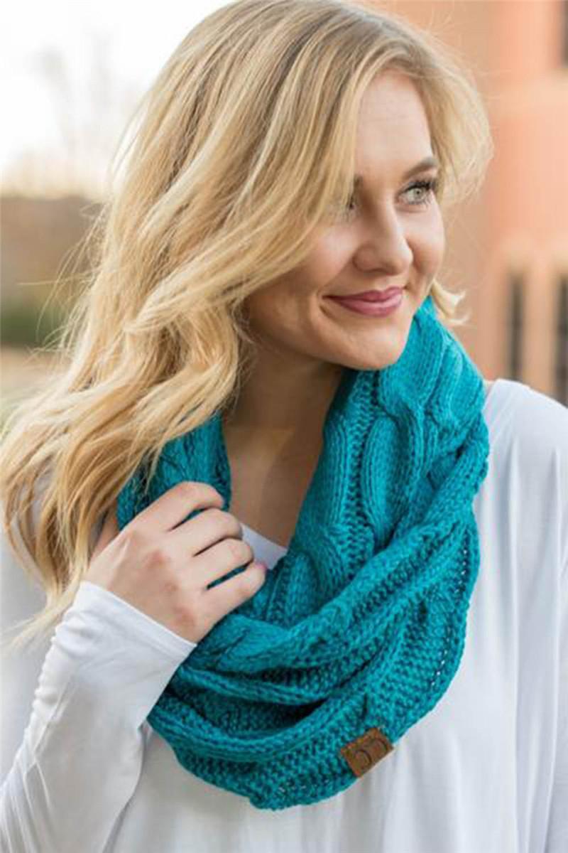 Großhandel Mode Winter Stricken Cc Schal 100 Acryl Woolen Mädchen