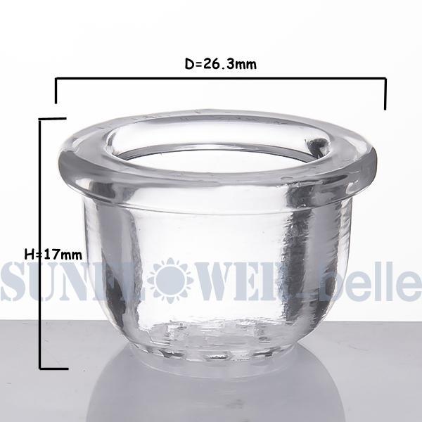 2019 nuevo Tazón de vidrio de alto borosilicato adecuado para silicona SRS487 Accesorios de vidrio para pipas de fumar de silicona --SKGA692