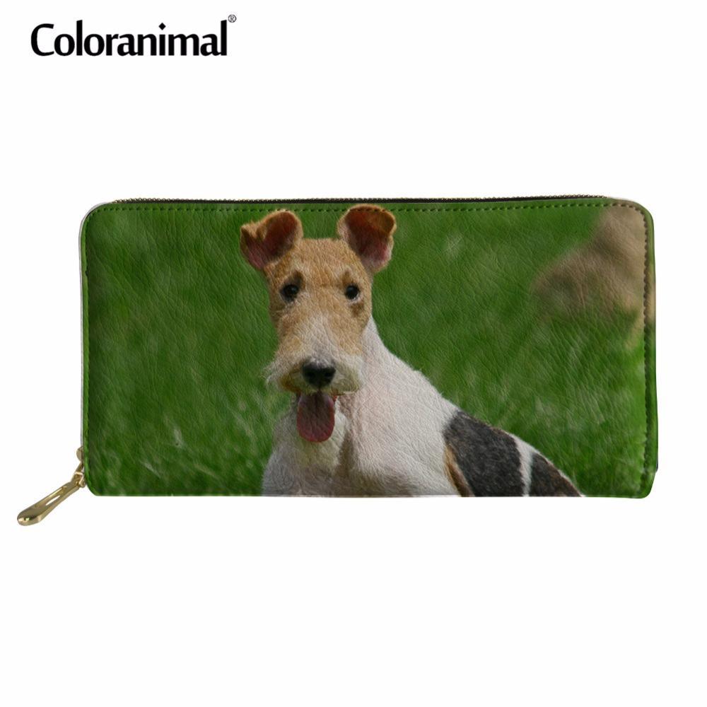 9584c53adf ... Portefeuilles Animal Fox Terrier Chien Impression Marque Luxe Design  Femmes Hommes Casual En Cuir PU Portefeuilles Meilleur Cadeau Embrayage  Bourse De ...