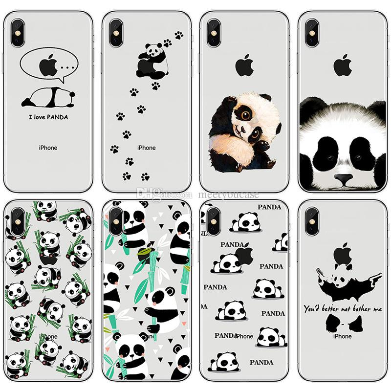 96cdf7eab43a9f TPU Clear Phone Case For Apple IPhone 5 5S SE 6 6S 7 8 Plus X Cute Panda  Bamboo Leaves Soft Silicone Gel Back Cases Cover+Protector Spigen Cell Phone  Cases ...