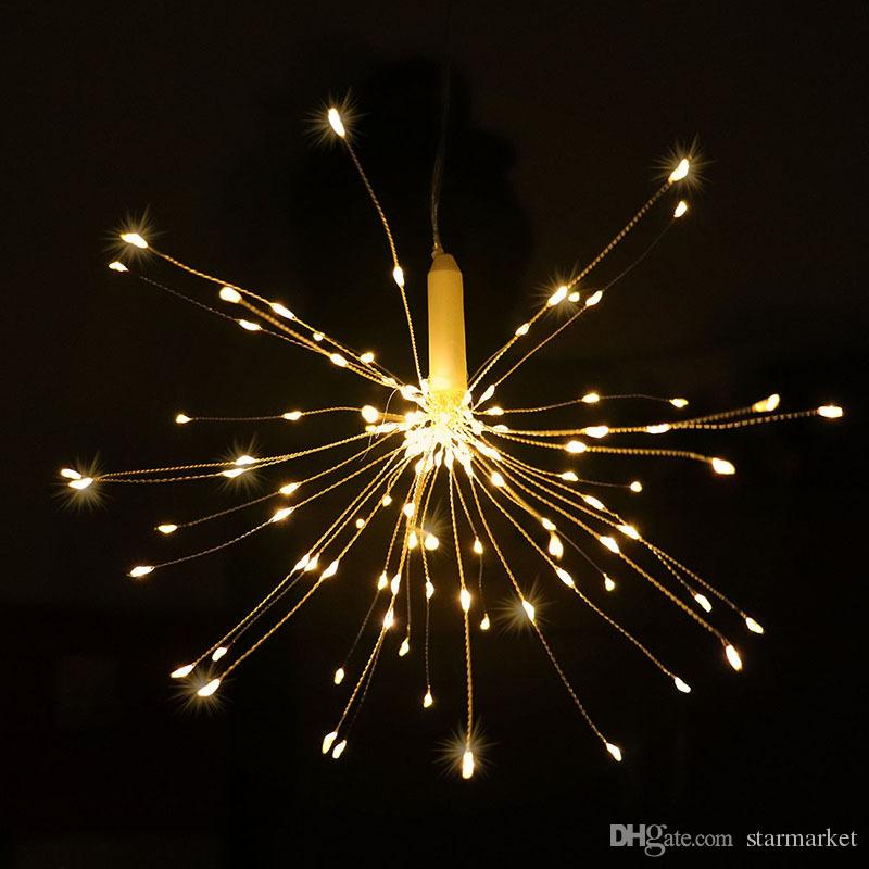 Wireless Led String Lights 180led Hanging Firework Light Garden Party Christmas Decor180LED, 60 Branches, Branch Length 30cm, 3led/Branch