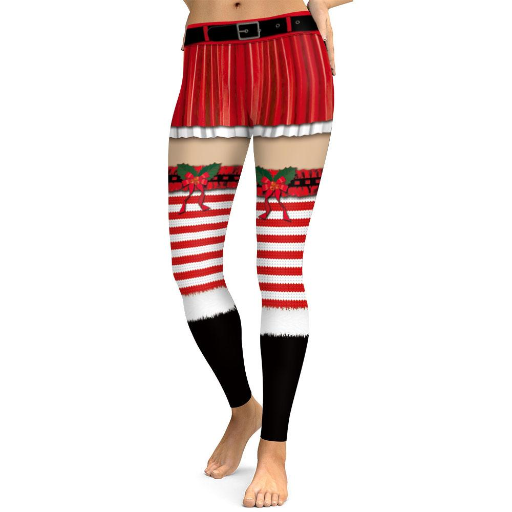 80ce0c3407caec 2019 New Women Unique Fitness Leggings Workout Sports Running Tights 3D  Fake Dress Stocking Print Sexy Gym Wear Christmas Slim Pants From  Jingtianwat, ...