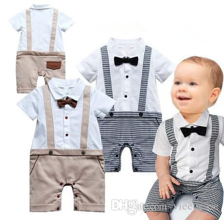 79c3c90e3 2019 Baby Boys Romper Gentleman Kids Clothing 2018 Summer Jumpsuits ...