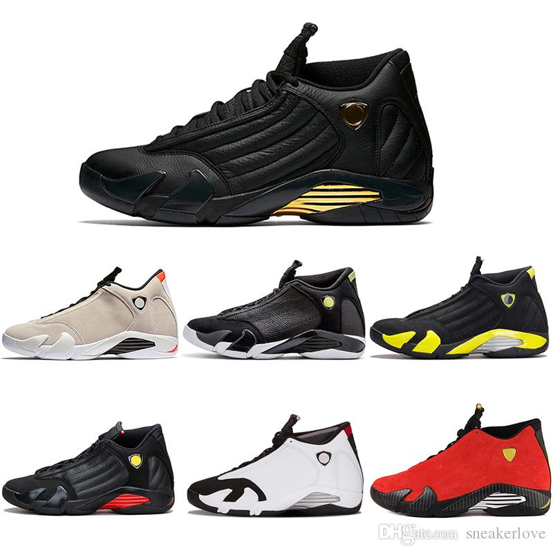 5ea6c1600ee2 Cheap 14 XIV Basketball Shoes Black Toe Desert Sand DMP Indiglo Last Shot  Thunder Mens 14s Sport Sneakers Size 7 13 Shoes Sports Sports Shoes For  Women From ...