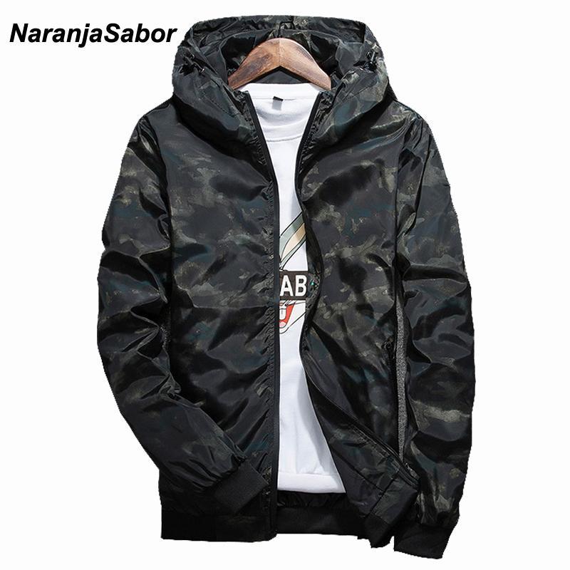 4e3e2f4080fe Acquista NaranjaSabor Primavera Autunno Uomo Casual Camouflage Hoodie  Jacket Uomini Impermeabili Abbigliamento Uomo Giacca A Vento Maschile  Outwear 4XL ...