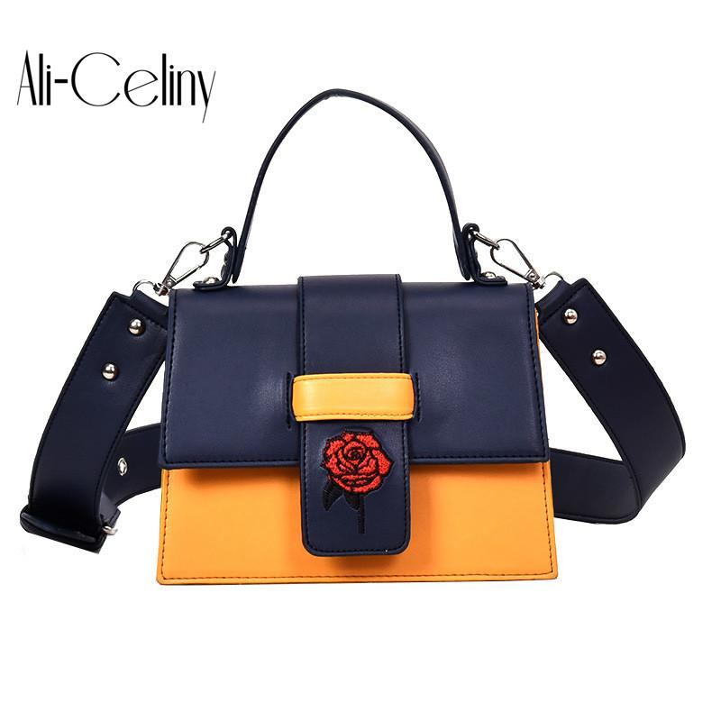 f54d987b9c 2018 Embroidered Rose Style Famous Brand Minimalist Crossbody Bag Women  Shoulderbag Messenger Puzzle Ring Bags For Women Clutch Bags Hobo Bags From  ...