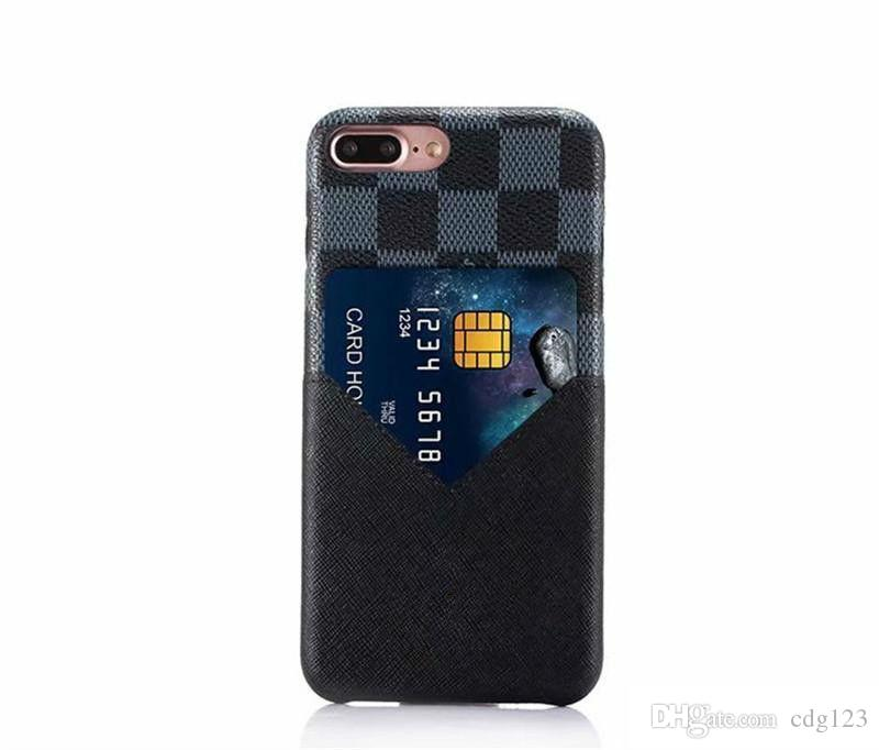 Hot Fashion Models Colorful Grid Leather Phone Back cover For iphone XS MAX XR With Credit Card Soft Case For Apple iphone X 7 6 6S 8 Plus