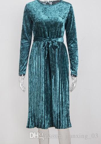 Новое плиссированное платье длинное платье